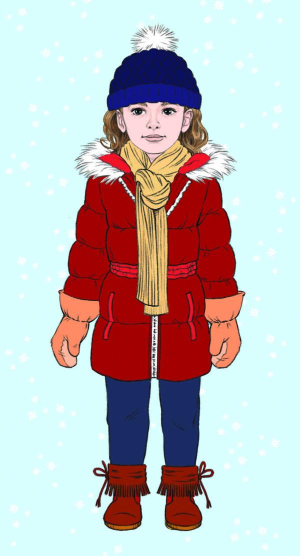 lulu s habille en hiver - avec tous les habits