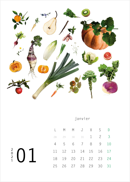 Calendrier 2021 Lulu Editions Janvier