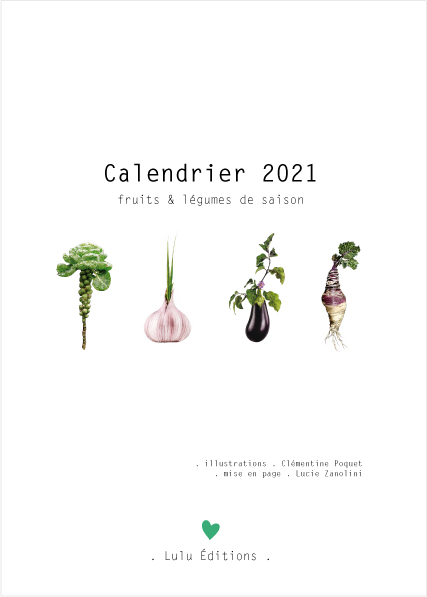 Calendrier 2021 Lulu Editions